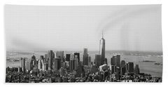 New York City Beach Towel by Linda Woods