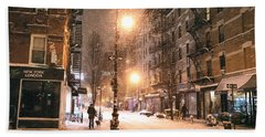 New York City - Snow - Lower East Side Beach Towel