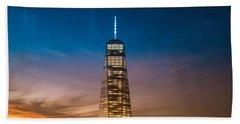New York City - Sunset And One World Trade Center Beach Towel
