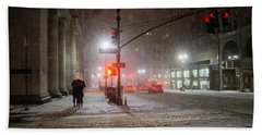 New York City Winter - Romance In The Snow Beach Towel