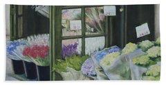 New York Flower Shop Beach Towel