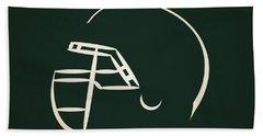 New York Jets Helmet Beach Towel