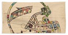 New York Jets Poster Art Beach Towel
