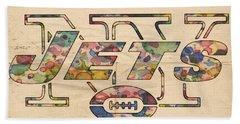 New York Jets Poster Vintage Beach Towel