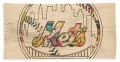 New York Mets Poster Vintage Beach Towel
