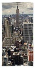 New York Midtown Skyscrapers Beach Towel