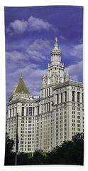 New York Municipal Building Beach Towel