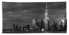 New York City Panoramic Skyline Beach Towel