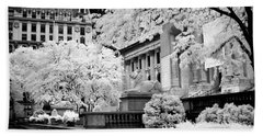 New York Public Library Ir Beach Towel