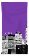 New York Skyline Chrysler Building - Purple Beach Towel