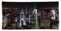 New York Times Square Beach Towel by Matt Malloy
