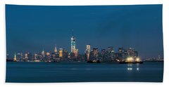 New York Twilight Beach Towel