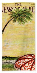 New Yorker January 5th, 1957 Beach Towel