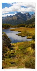 New Zealand Alpine Landscape Beach Sheet