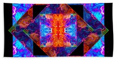 Newly Formed Bliss Mandala Artwork Beach Towel