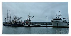 Newport Fishing Boats Beach Towel by Chalet Roome-Rigdon
