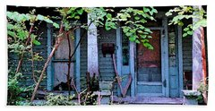 Next Door To Aunt Agnes Beach Towel by Patricia Greer