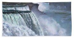 Niagara Falls Paintings Beach Towels