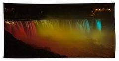 Beach Towel featuring the photograph Niagara Falls A Glow by Dave Files