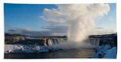 Niagara Falls Makes Its Own Weather Beach Towel