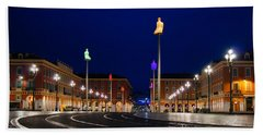 Nice France - Place Massena Blue Hour  Beach Sheet