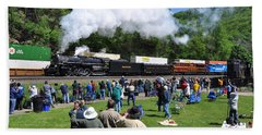 Nickel Plate Berkshire At Horseshoe Curve Beach Towel