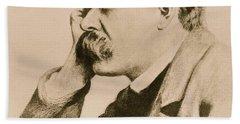 Nietzsche Beach Towel