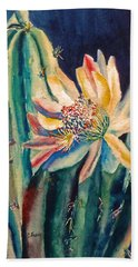 Night Blooming Cactus Beach Towel