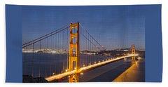 Night Image Golden Gate Bridge Beach Towel