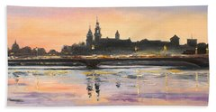 Night In Krakow Beach Towel