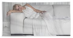 Night In White Satin Beach Towel