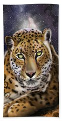 Beach Towel featuring the painting Fourth Of The Big Cat Series - Leopard by Thomas J Herring