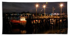 Night Pier Beach Towel