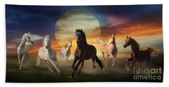 Night Play Beach Towel