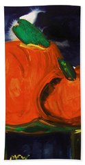Night Pumpkins Beach Towel
