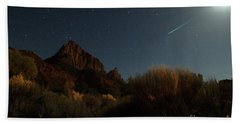 Night Sky Over Zion Beach Towel