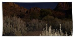 Night Sky Over Zion II Beach Towel