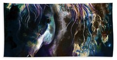 Night Stallion Beach Towel