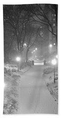 Night Storm New York Beach Sheet