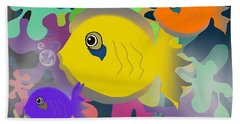Night Swimming Beach Towel by Christine Fournier