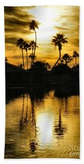 Nightfall Beach Towel by Deb Halloran