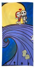 Nightmare Before Christmas Hill Cute Beach Towel
