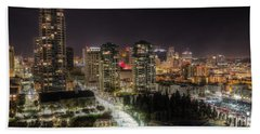Beach Towel featuring the photograph Nighttime by Heidi Smith
