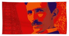 Nikola Tesla #1 Beach Towel