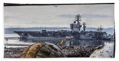 Nimitz - Port Of Everett Beach Towel