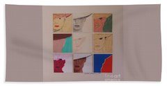 Nine Ladies Lolling Beach Towel by Susan Williams