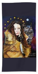 Nine Stars Woman / Owl Medicine Beach Sheet