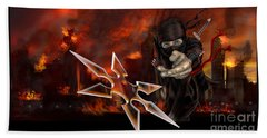 Ninja Beach Towel