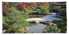 Ninna-ji Temple Garden And Pond - Kyoto Japan Beach Towel