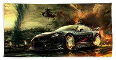 Nissan G T R Beach Sheet by Movie Poster Prints